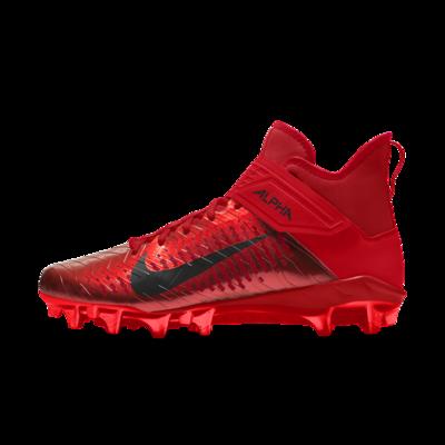 Мужские бутсы для американского футбола с индивидуальным дизайном Nike Alpha Menace Pro 2 Mid By You - Красный