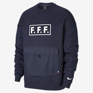 FFF Langærmet fodboldcrewtrøje i fleece