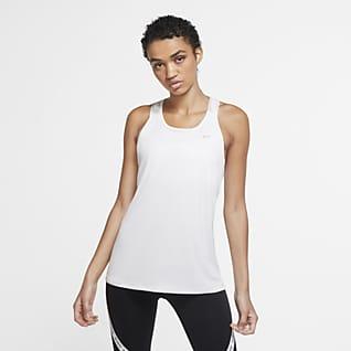 Nike Pro Singlet med kamuflasjemønstrede stropper til dame