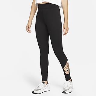 Nike Sportswear Essential Leggings de talle alto con estampado - Mujer