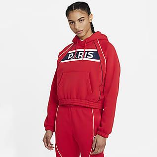 Paris Saint-Germain Sweat à capuche en tissu Fleece pour Femme