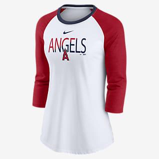 Nike Color Split (MLB Los Angeles Angels) Women's 3/4-Sleeve T-Shirt
