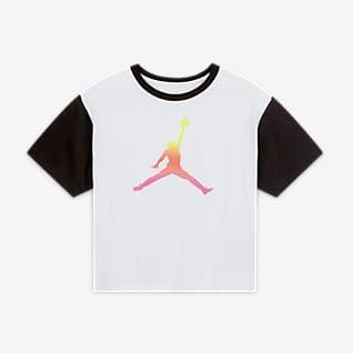 Jordan Színblokkolt póló nagyobb gyerekeknek (lányoknak)