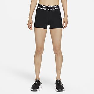 Nike Pro Dri-FIT Calções com grafismo de 8cm para mulher