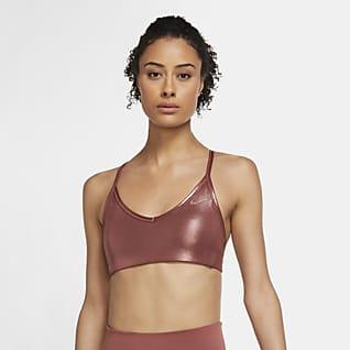 Nike Indy Icon Clash Bra deportivo brillante con almohadillas de sujeción ligera para mujer