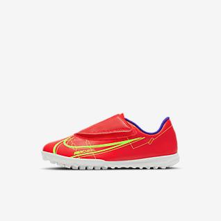 Nike Jr. Mercurial Vapor 14 Club TF Calzado de fútbol para césped deportivo para niños talla pequeña
