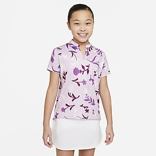 Nike Dri-FIT Big Kids' (Girls') Printed Golf Polo