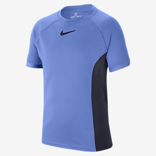 NikeCourt Dri-FIT Kortærmet tennisoverdel til store børn (drenge)
