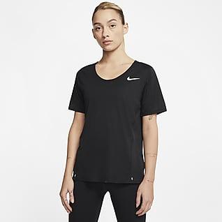 Nike City Sleek Damska koszulka do biegania z krótkim rękawem