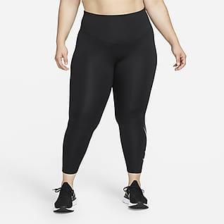 Nike Dri-FIT Swoosh Run Tights da running a 7/8 a vita media (Plus size) - Donna
