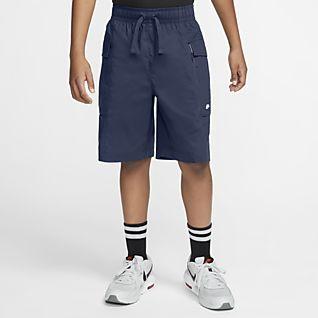 Nike Sportswear Tkané cargo kraťasy pro větší děti (chlapce)