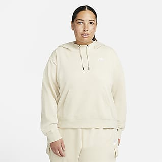 Nike Sportswear Essentials Sudadera con gorro de tejido Fleece oversized para mujer talla grande