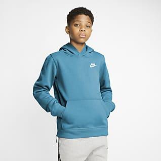 Nike Sportswear Club Pullover-hættetrøje til større børn