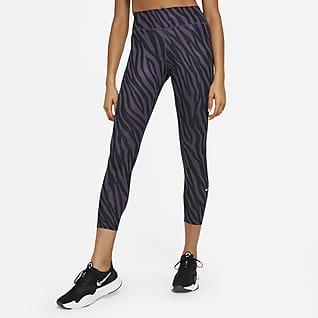 Nike One Icon Clash Women's Mid-Rise 7/8 Printed Leggings