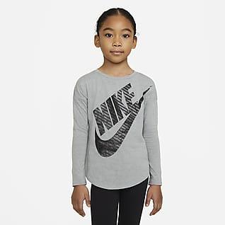 Nike Playera de manga larga para niño talla pequeña