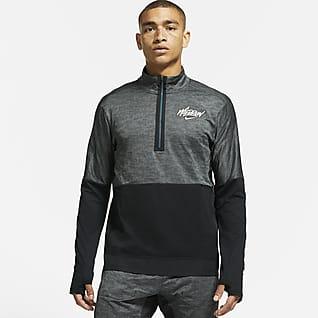Nike Dri-FIT Element Wild Run Camiseta de running con gráfico de medio cierre para hombre