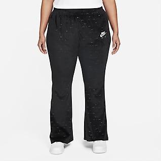 Nike Air Velours-Hose mit mittelhohem Bund für Damen (große Größe)