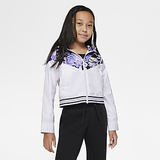 Nike Sportswear Windrunner Older Kids' (Girls') Graphic Jacket
