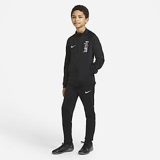 Nike Dri-FIT Kylian Mbappé Fodboldtracksuit i maskinstrik til store børn