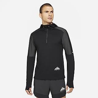 Nike Dri-FIT Trail Męska koszulka do biegania w terenie z zamkiem 1/2