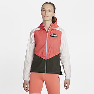 Nike Shield Trailløbejakke til kvinder
