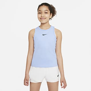 NikeCourt Dri-FIT Victory Camisola de ténis sem mangas Júnior (Rapariga)