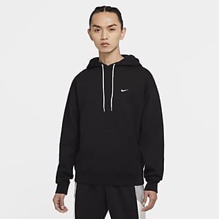 Nike Solo Swoosh เสื้อมีฮู้ดผ้าฟลีซผู้ชาย