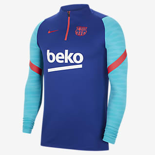 F.C. Barcelona Strike Men's Long-Sleeve Football Drill Top