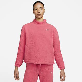 Nike Therma-FIT Sudadera sin capucha de entrenamiento de tejido Fleece - Mujer
