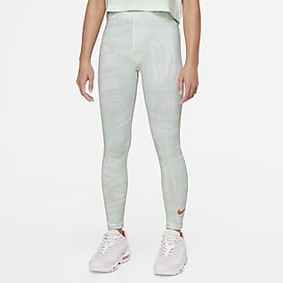Nike Sportswear Favorites Baskılı Genç Çocuk (Kız) Dans Taytı