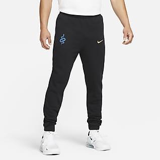 Ίντερ Ανδρικό ποδοσφαιρικό παντελόνι από ύφασμα French Terry