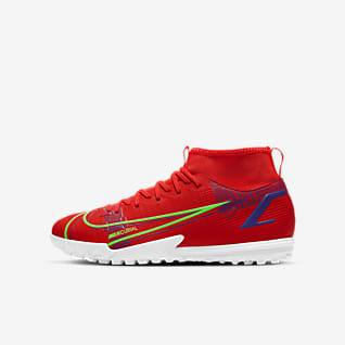 Nike Jr. Mercurial Superfly 8 Academy TF Sapatilhas de futebol para relva artificial para criança/Júnior