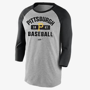 Nike Cooperstown Vintage Tri-Blend Raglan (MLB Pittsburgh Pirates) Men's 3/4-Sleeve T-Shirt
