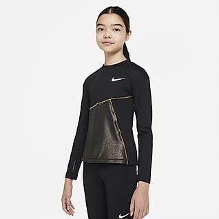 Nike Pro Warm Μπλούζα προπόνησης για μεγάλα κορίτσια