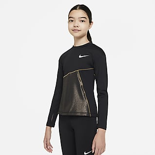 Nike Pro Warm Träningslinne för ungdom (tjejer)