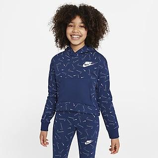 Nike Sportswear Big Kids' (Girls') Printed Fleece Hoodie