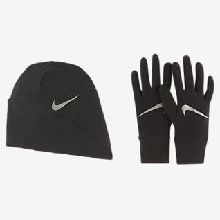 Nike Essential Conjunto de guantes y gorro de running para mujer