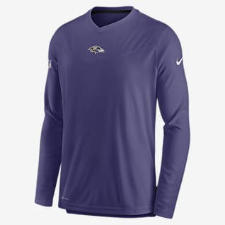 Nike Dri-FIT Sideline Coaches (NFL Baltimore Ravens) Men's Long-Sleeve V-Neck T-Shirt