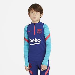 F.C. Barcelona Strike Older Kids' Long-Sleeve Football Drill Top