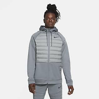 Nike Therma Tam Boy Fermuarlı Erkek Antrenman Ceketi