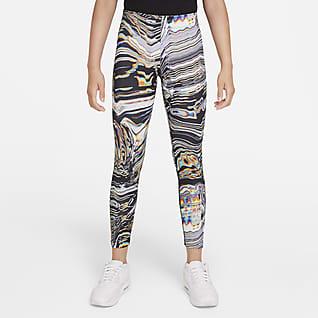 Nike Sportswear Favorites Dance-leggings med print til større børn (piger)