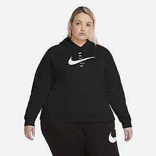 Nike Sportswear Swoosh Dessuadora amb caputxa de teixit Fleece (talles grans) - Dona