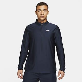 NikeCourt Dri-FIT Advantage Herren-Tennisoberteil mit Halbreißverschluss