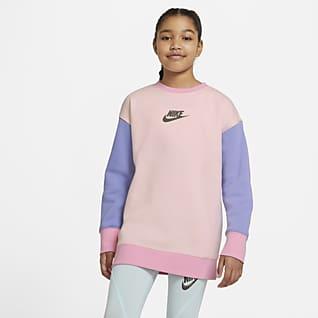 Nike Sportswear Mikina skulatým výstřihem pro větší děti (dívky)