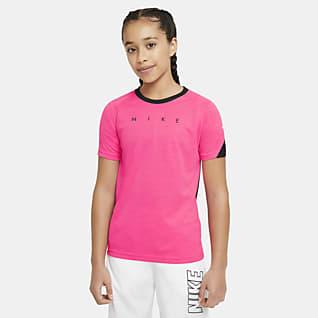 Nike Dri-FIT Academy Kısa Kollu Grafikli Genç Çocuk Futbol Üstü