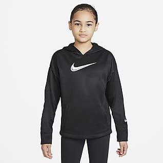 Nike Therma-FIT Sudadera con gorro de entrenamiento para niñas talla grande