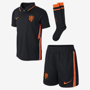 Выездная форма сборной Нидерландов 2020 Футбольный комплект для дошкольников