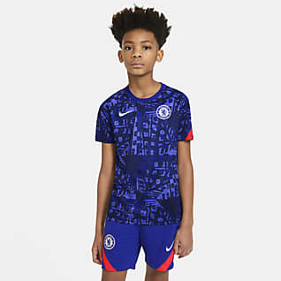 Chelsea FC Big Kids' Pre-Match Short-Sleeve Soccer Top