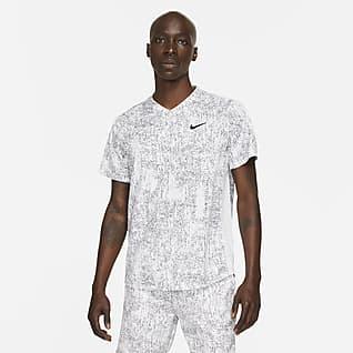 NikeCourt Dri-FIT Victory Męska koszulka do tenisa z nadrukiem