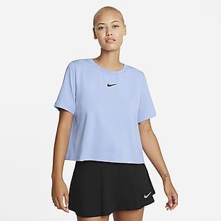 NikeCourt Advantage Prenda para la parte superior de tenis de manga corta para mujer